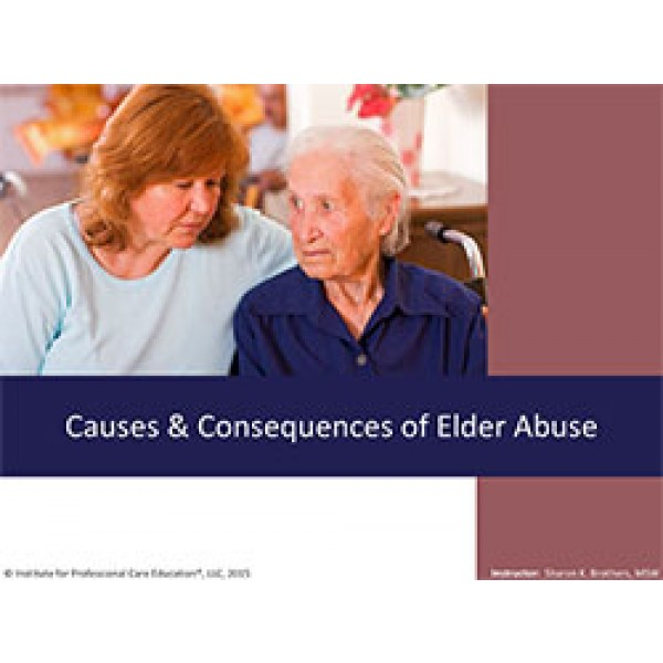 primary causes of elder abuse
