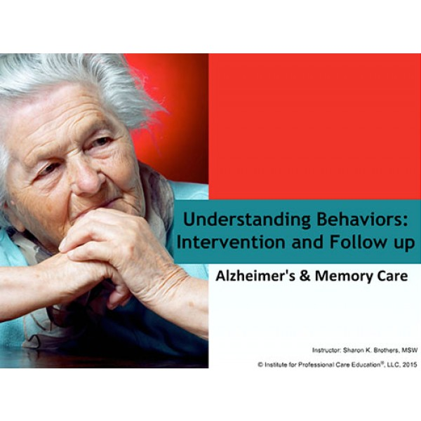 Challenging Behaviors: Intervention and Follow up