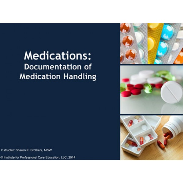 handling medication Even a little exposure to some hazardous drugs can be highly absorbed.