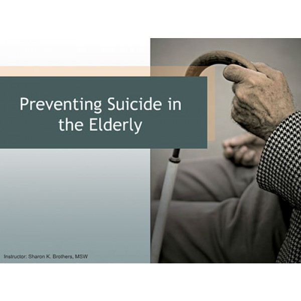 Preventing Suicide in the Elderly