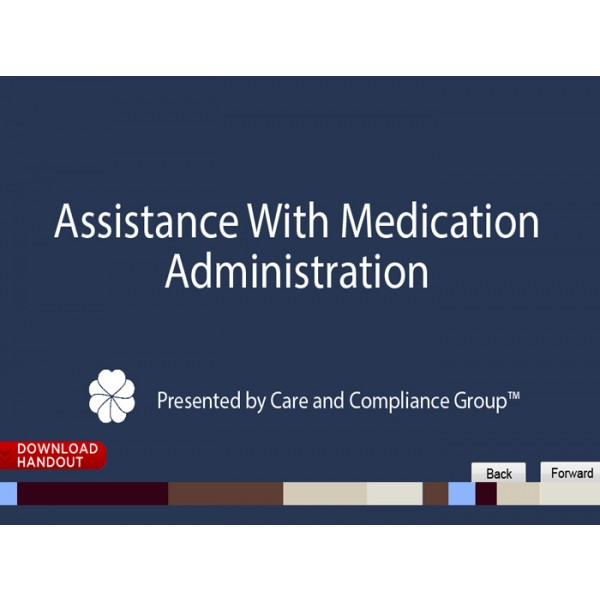 assisting with medication There is a lot to know when assisting with self-administration of medications your abilities before you can assist with the self-administration of medications, there are specific abilities that you must be able to perform.